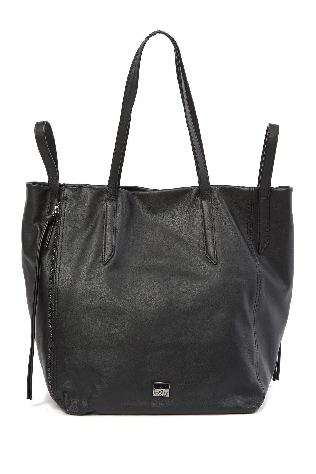 Image of Kooba Leather Zip Tote Bag