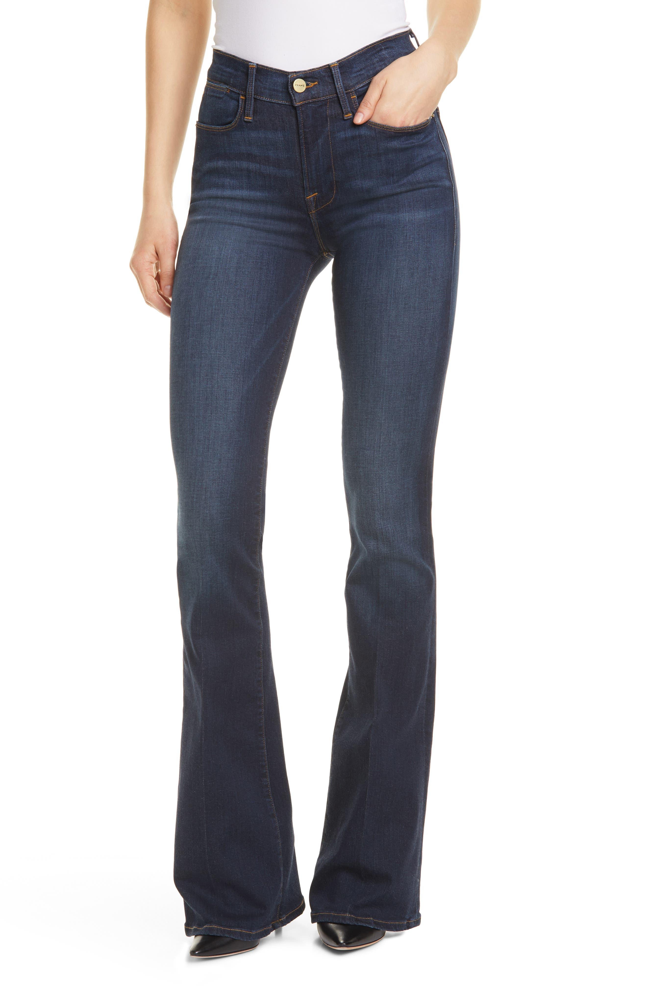 FRAME Le High Waist Flare Jeans (Wythe)