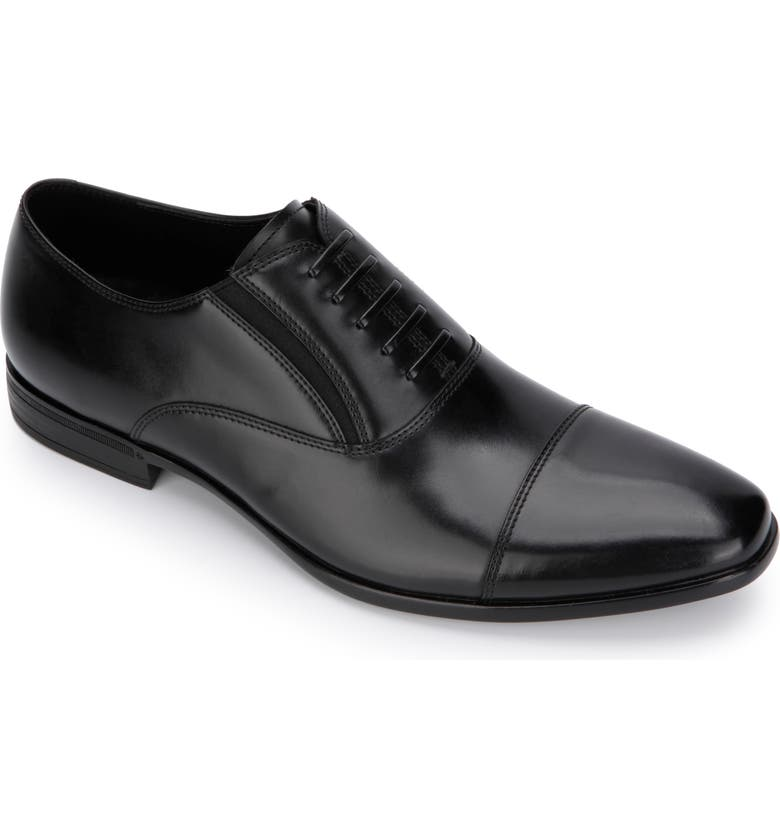 REACTION KENNETH COLE Kenneth Cole Reaction Eddy Cap Toe Oxford, Main, color, BLACK