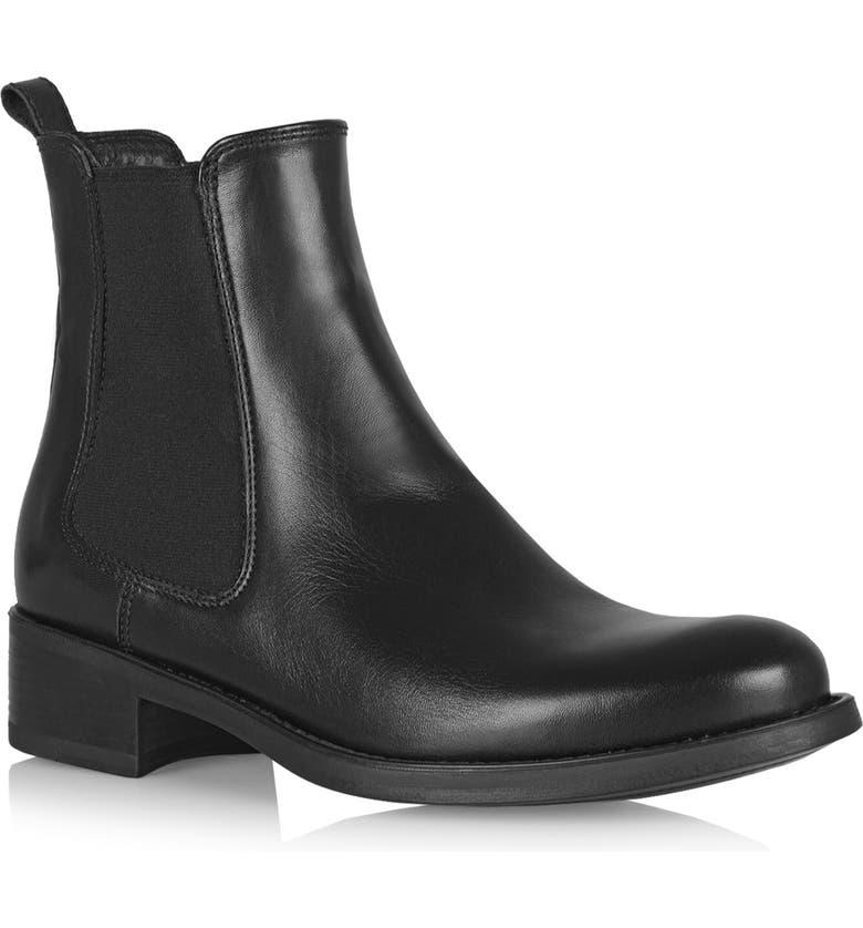 LA CANADIENNE Sara Waterproof Chelsea Boot, Main, color, BLACK LEATHER