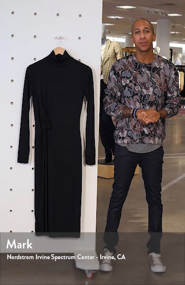 Draped Long Sleeve Midi Dress, sales video thumbnail