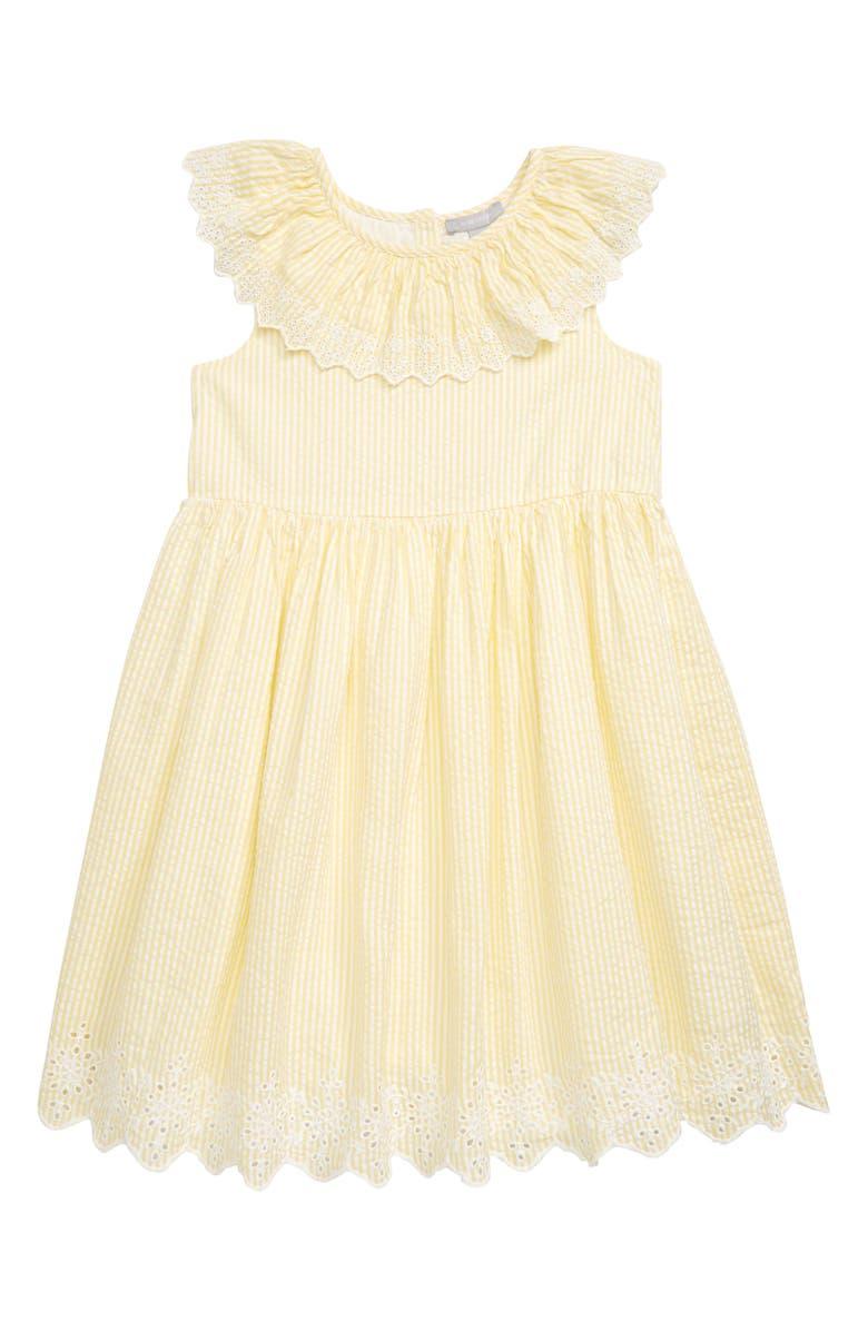 NORDSTROM Seersucker Eyelet Dress, Main, color, 740