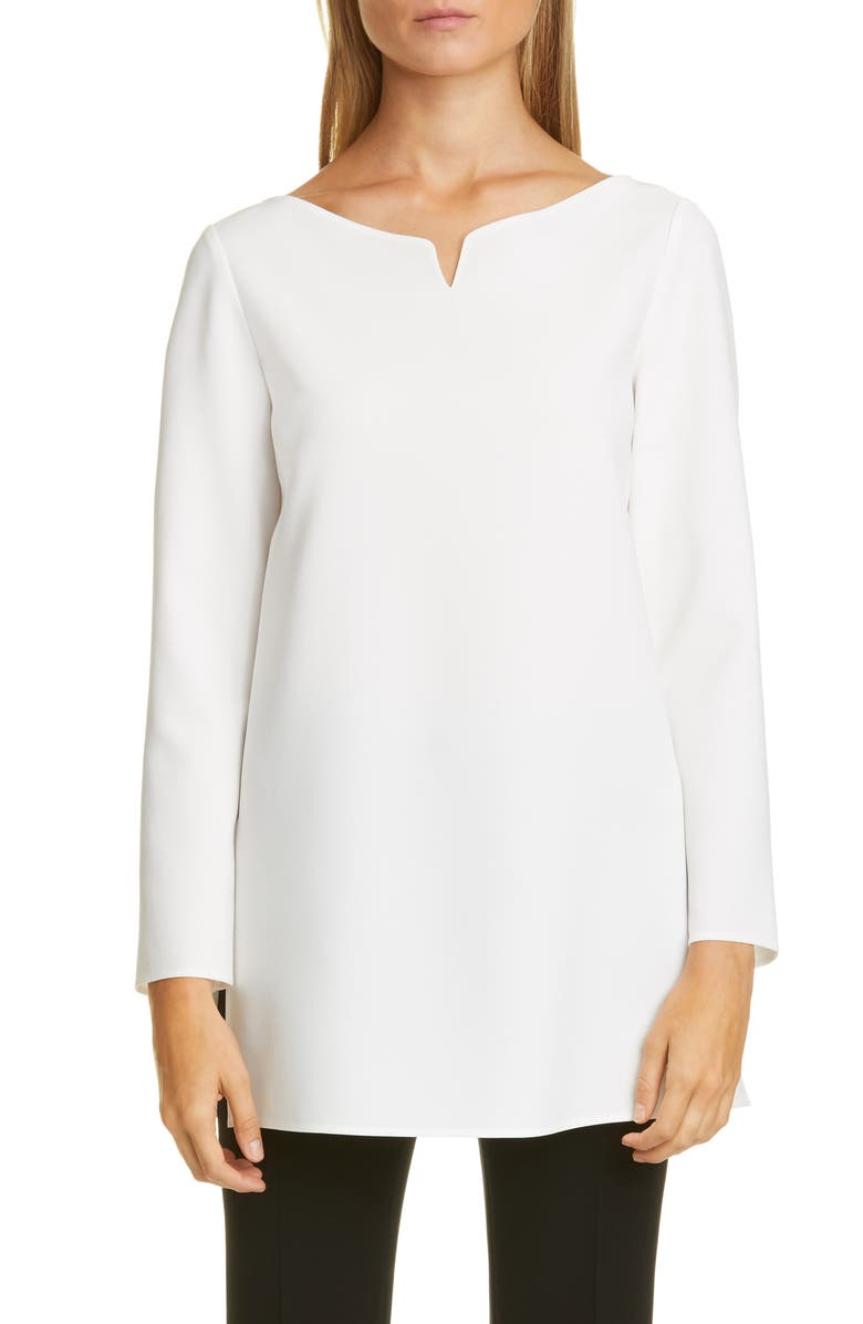 LAFAYETTE 148 NEW YORK Georgina Blouse, Main, color, CLOUD