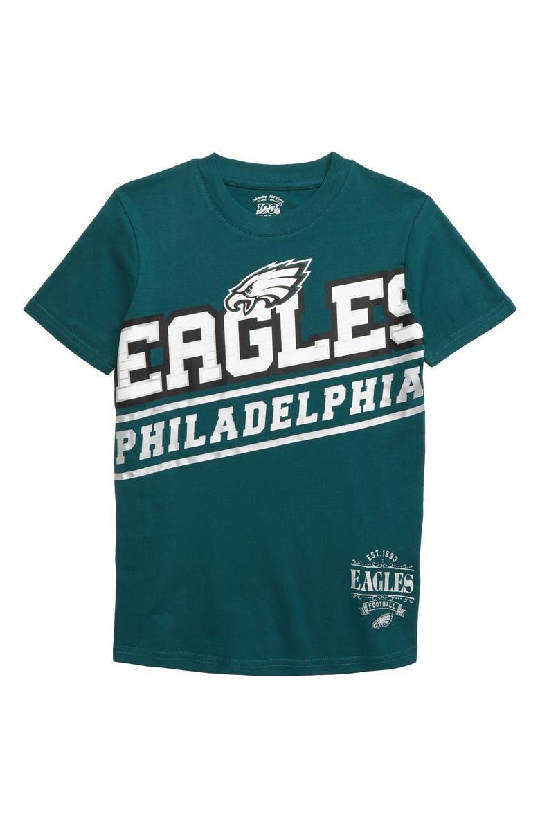 OUTERSTUFF NFL Logo Philadelphia Eagles Double Up T-Shirt, Main, color, 440