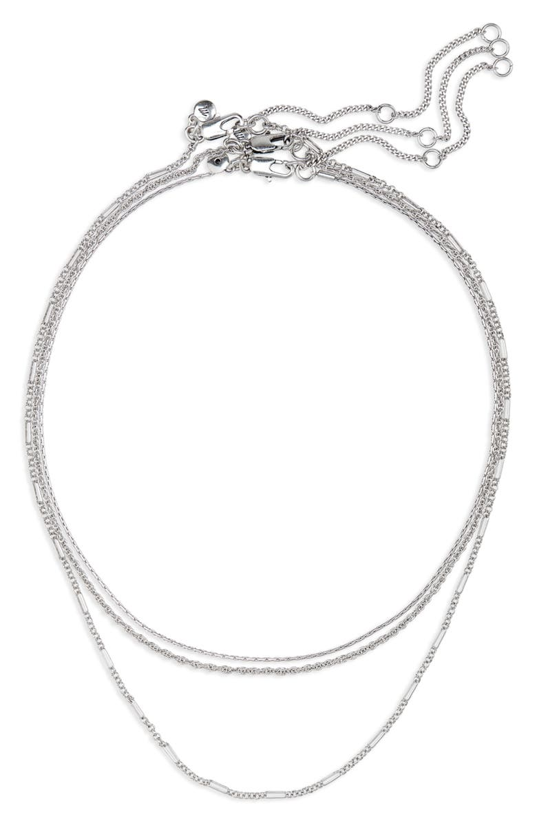 MADEWELL Heritage Chain Necklace Set, Main, color, LT. SILVER OX