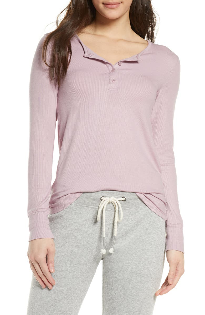 TOMMY JOHN Lounge Henley Tee, Main, color, 650