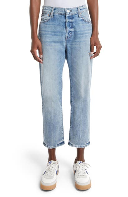 MOTHER THE SCRAPPER HIGH RISE ANKLE CROP JEANS