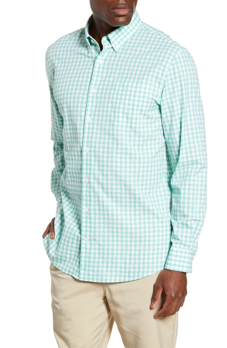 JOHNNIE-O Chet Classic Fit Prep-Formance Button-Down Shirt, Main, color, HIGHLIGHTER