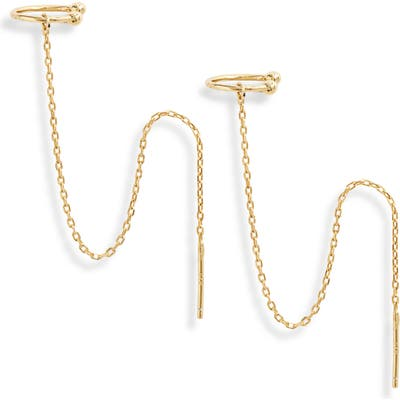 Sterling Forever Simple Threader Ear Cuffs