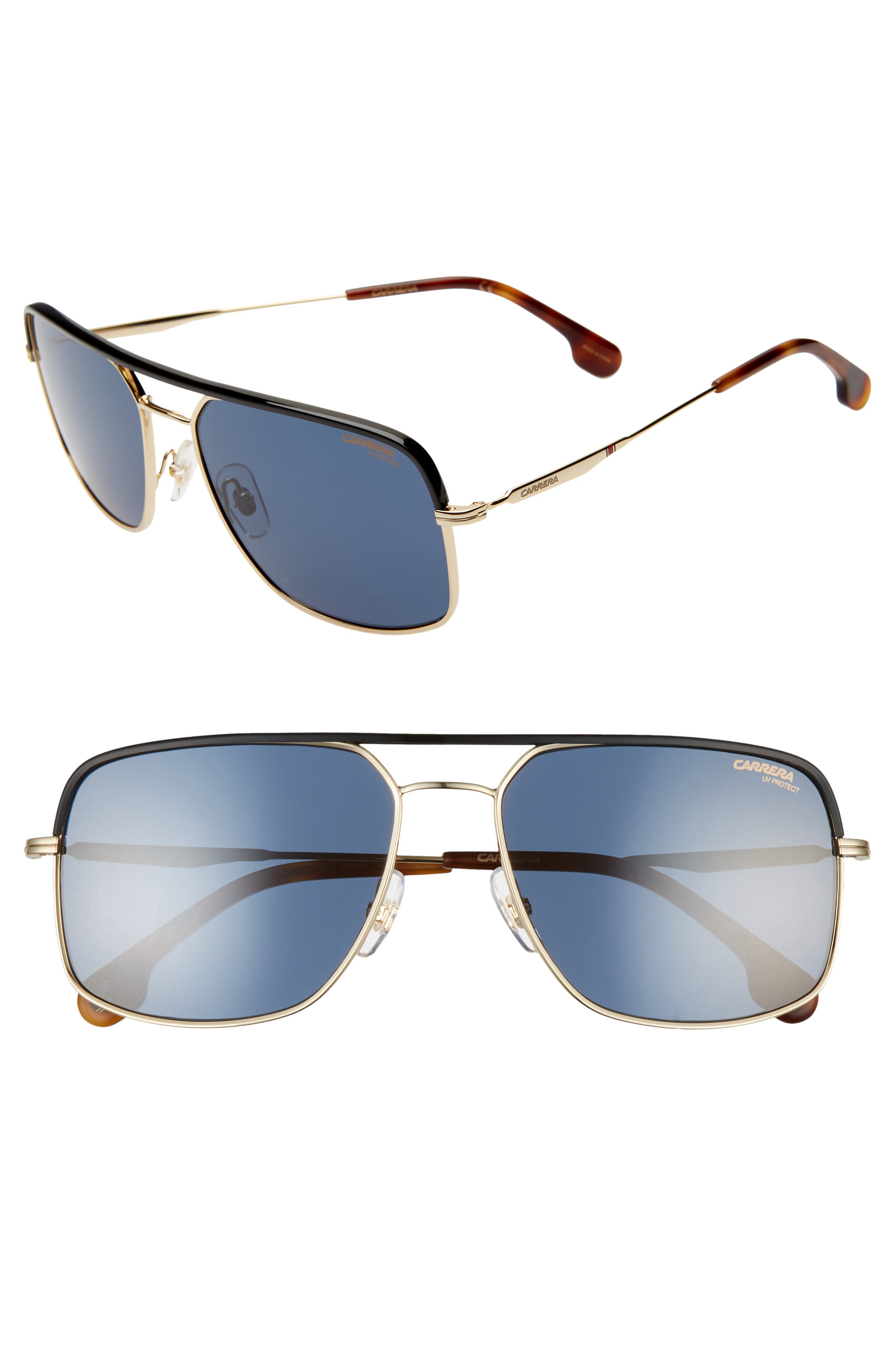 Carrera Eyewear 60Mm Gradient Aviator Sunglasses - Gold Blue