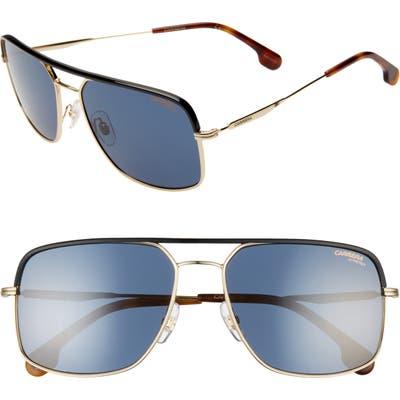 Carrera Eyewear 60Mm Gradient Aviator Sunglasses - Gold Blue