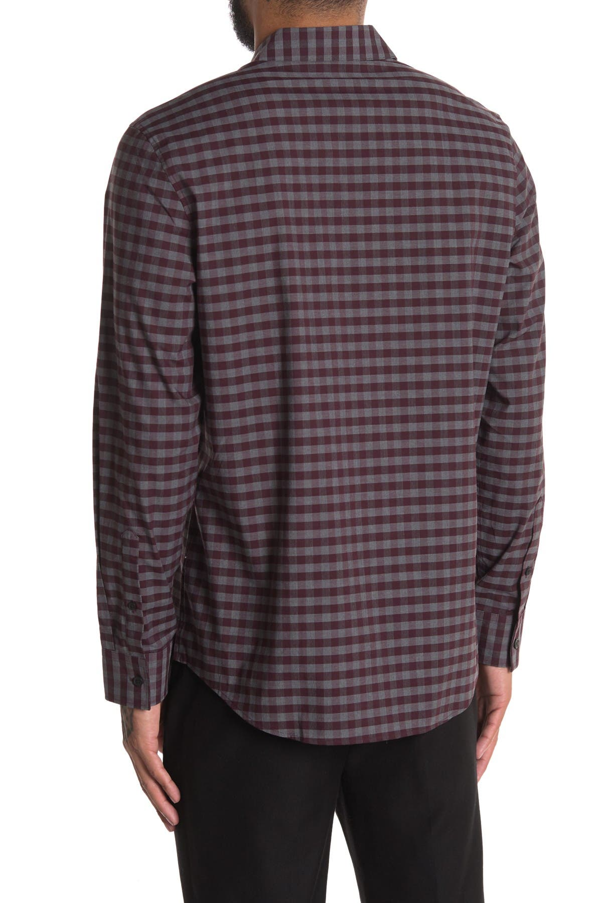 Image of Calvin Klein Stretch Mini Buffalo Plaid Shirt