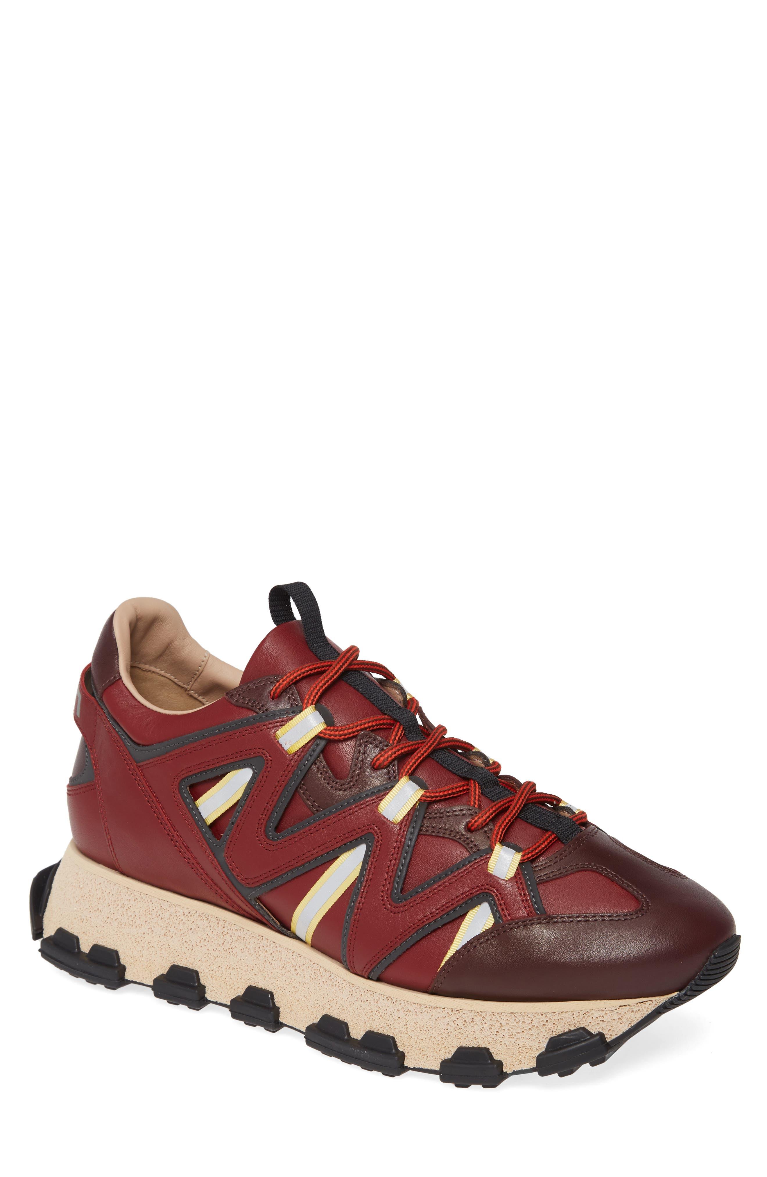 Lanvin Runner Sneaker In Burgundy