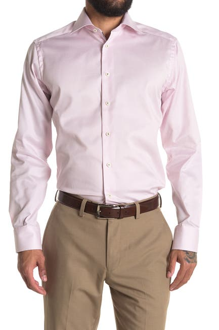 Image of Eton Solid Slim Fit Dress Shirt