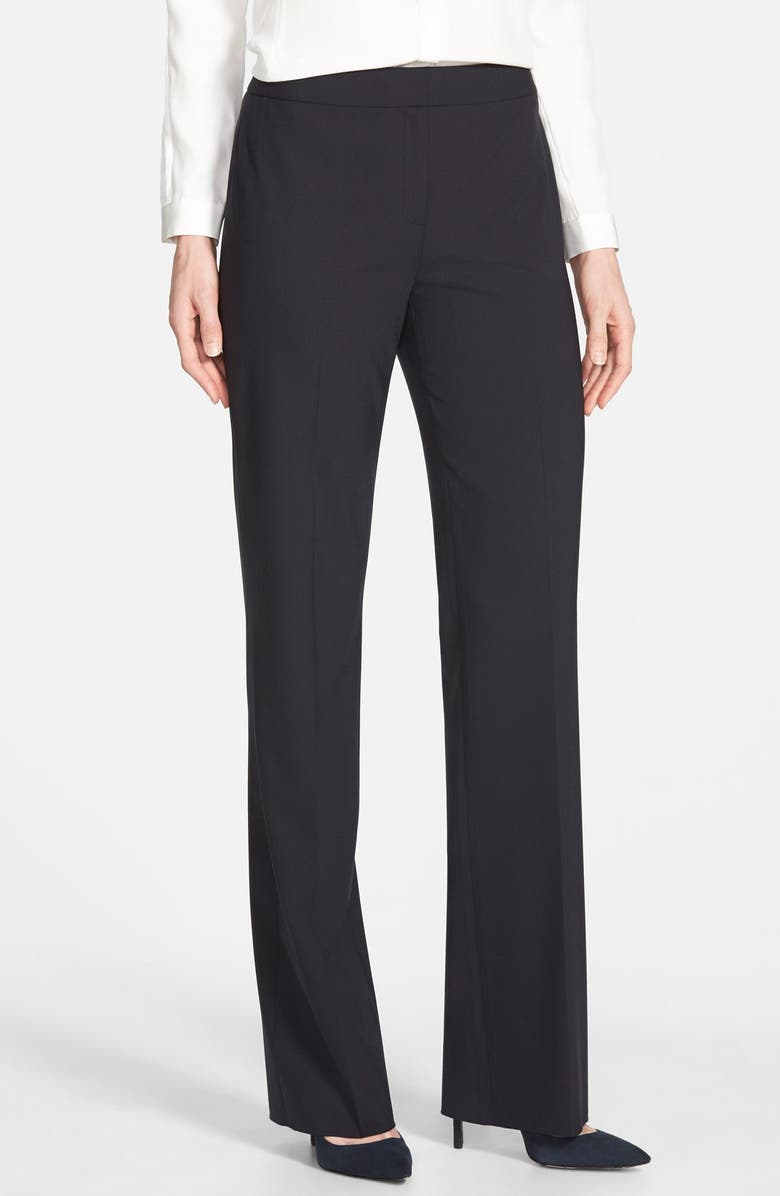 LAFAYETTE 148 NEW YORK 'Menswear' Trousers, Main, color, 001