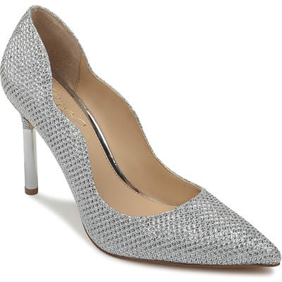 Jewel Badgley Mischka Riley Glitter Pump, Metallic