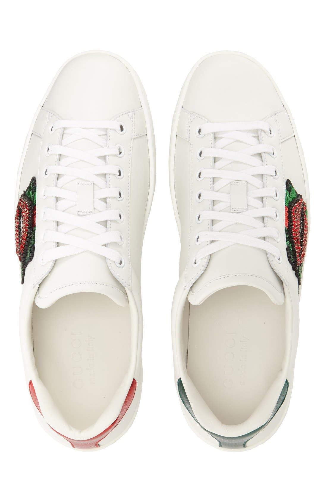 Gucci 'New Ace Lips' Genuine Snake