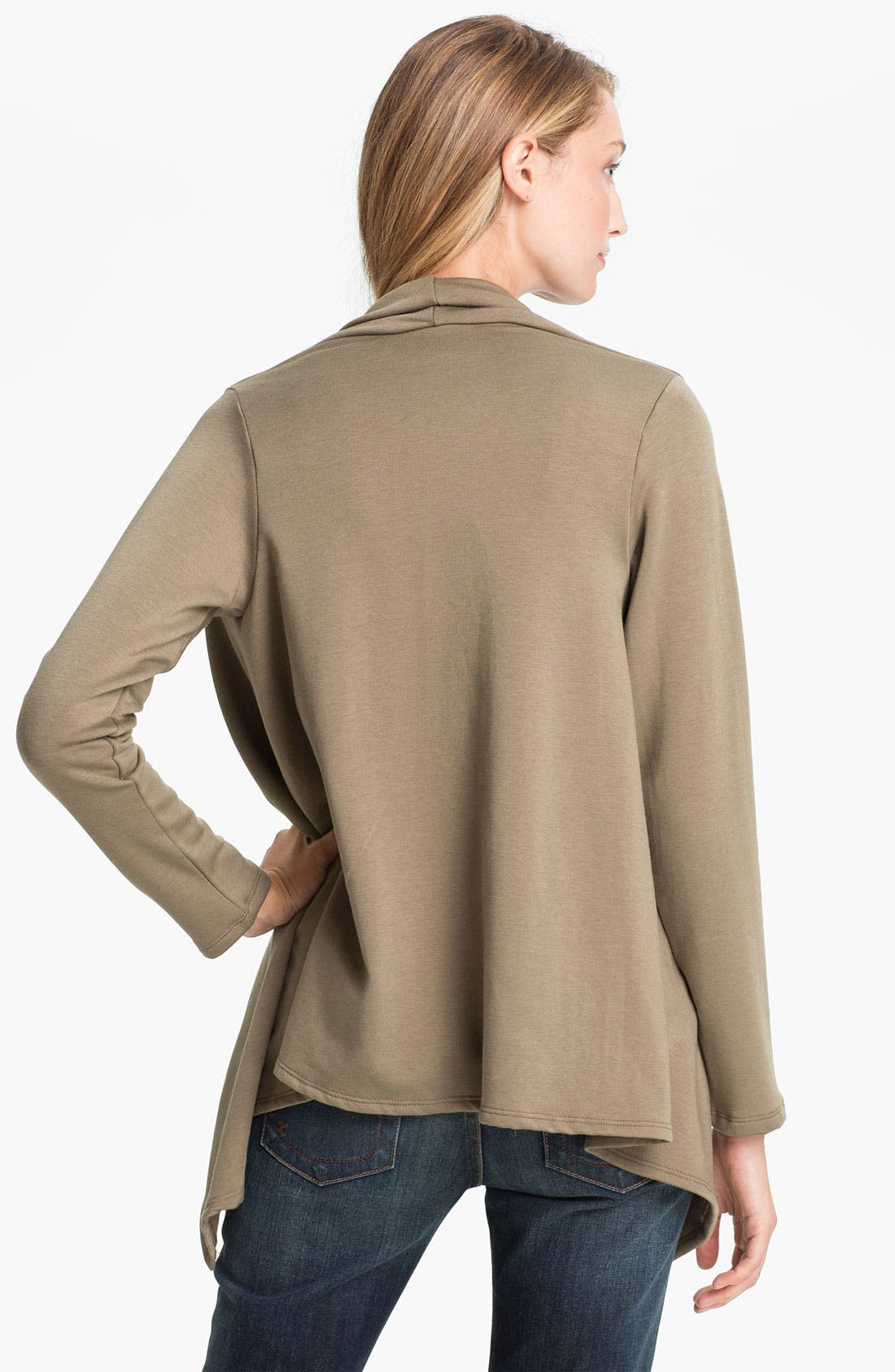 ,                             One-Button Fleece Wrap Cardigan,                             Alternate thumbnail 65, color,                             240