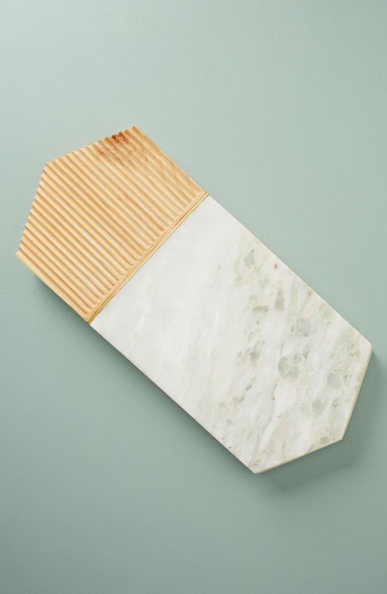 ANTHROPOLOGIE Karala Pinewood & Marble Cheese Board, Main, color, 100