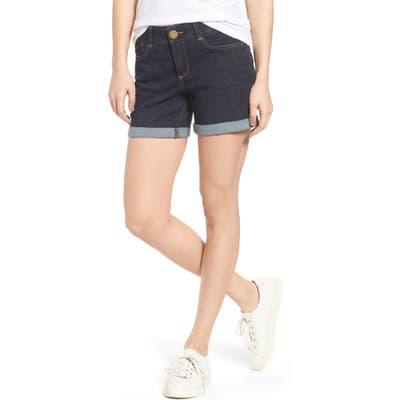 Wit & Wisdom Ab-Solution Cuffed Denim Shorts, Blue (Nordstrom Exclusive)