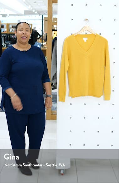 Waffle Stitch V-Neck Sweater, sales video thumbnail