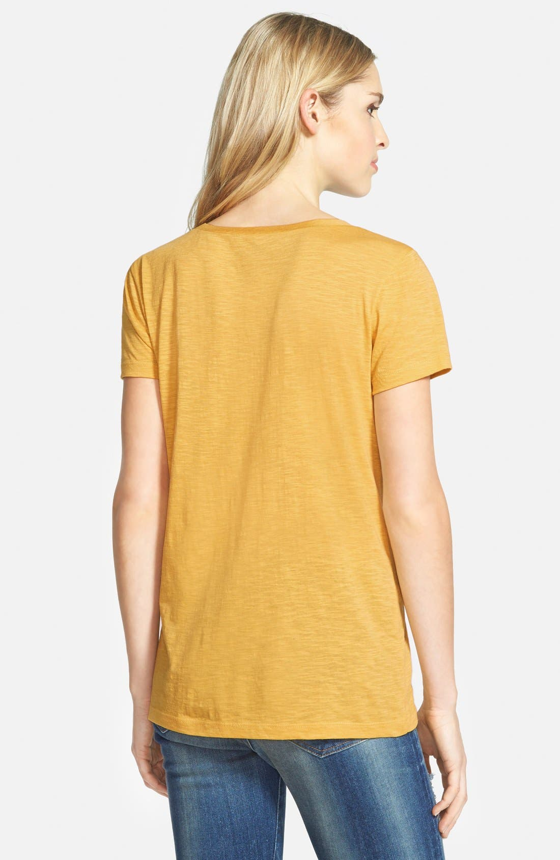 ,                             Relaxed Slub Knit U-Neck Tee,                             Alternate thumbnail 435, color,                             721