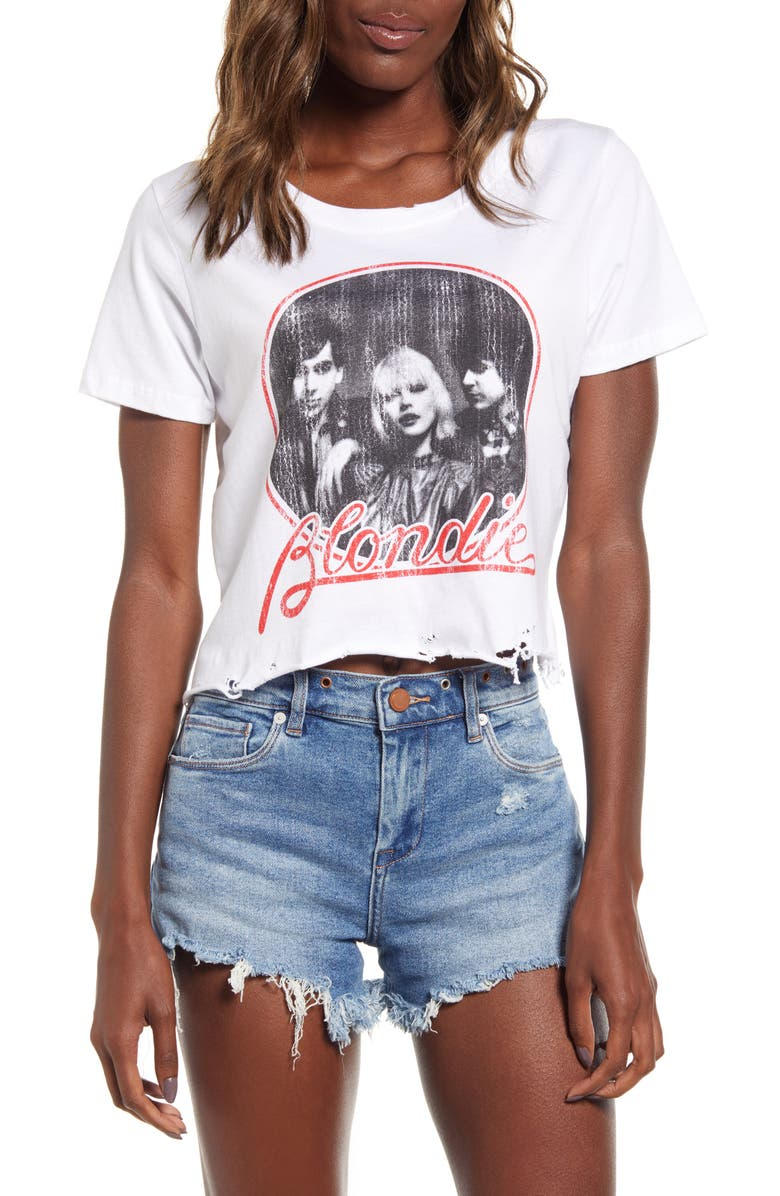 PRINCE PETER Blondie Crop Tee, Main, color, WHITE