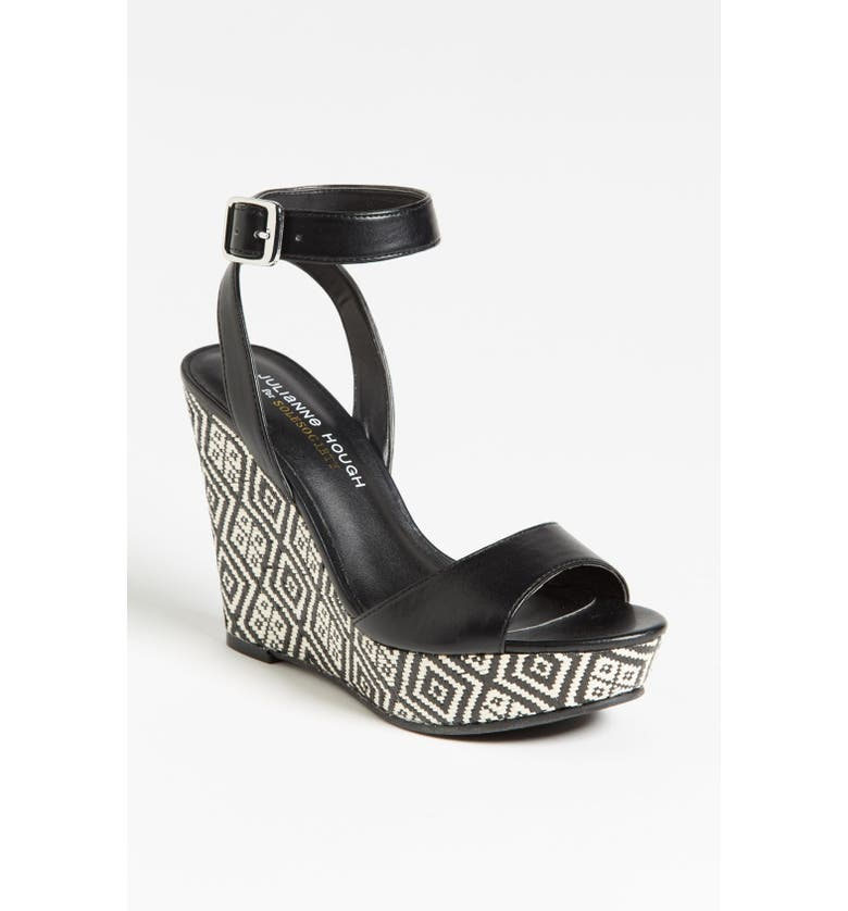 SOLE SOCIETY Julianne Hough for Sole Society 'Adrienne' Wedge Sandal, Main, color, 001
