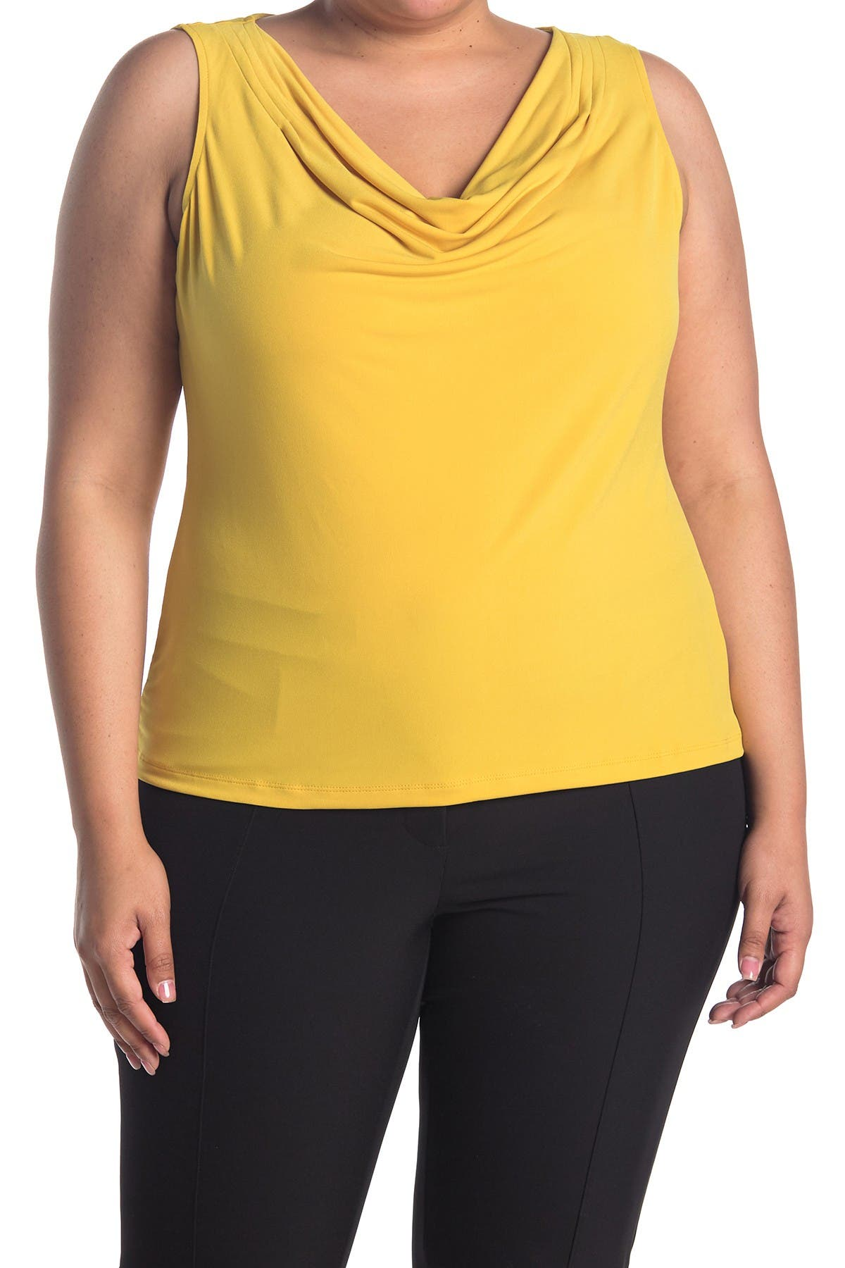 Image of Catherine Malandrino Drape Neck Sleeveless Top