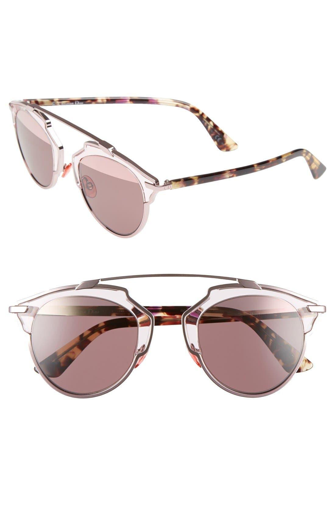 ,                             So Real 48mm Brow Bar Sunglasses,                             Main thumbnail 60, color,                             650