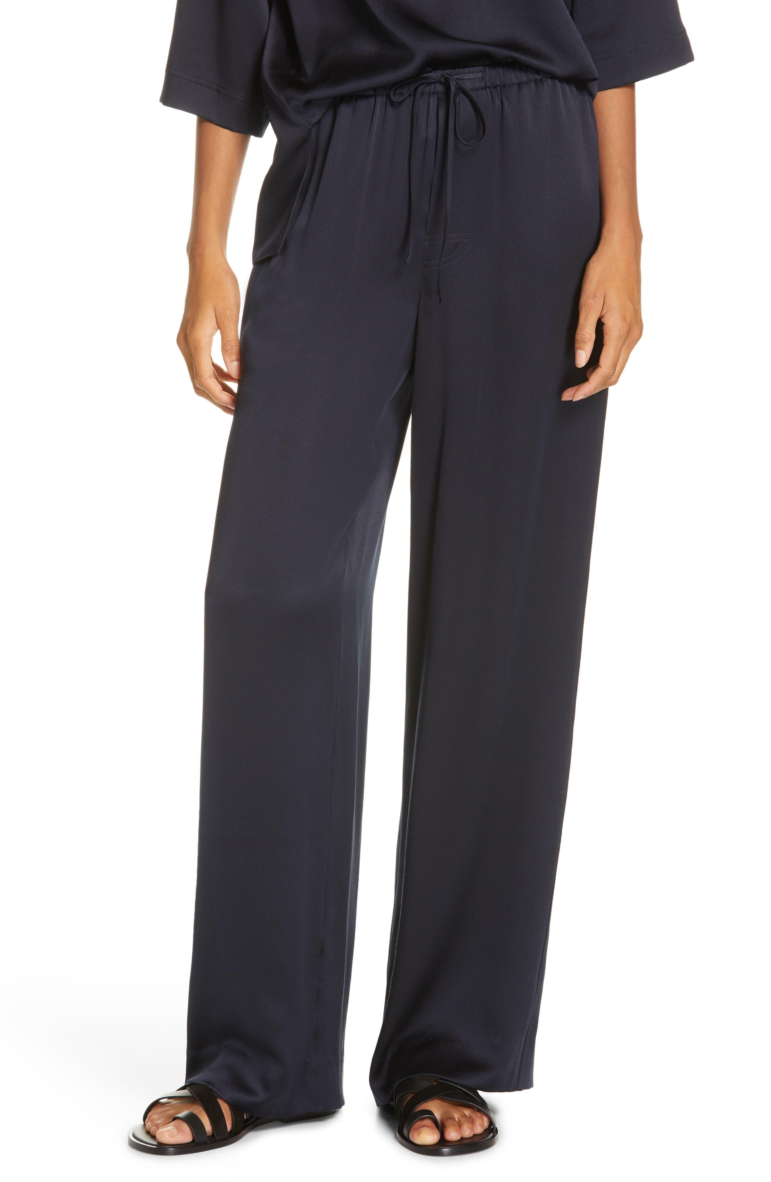 ,                             Silk Pajama Pants,                             Main thumbnail 1, color,                             COASTAL