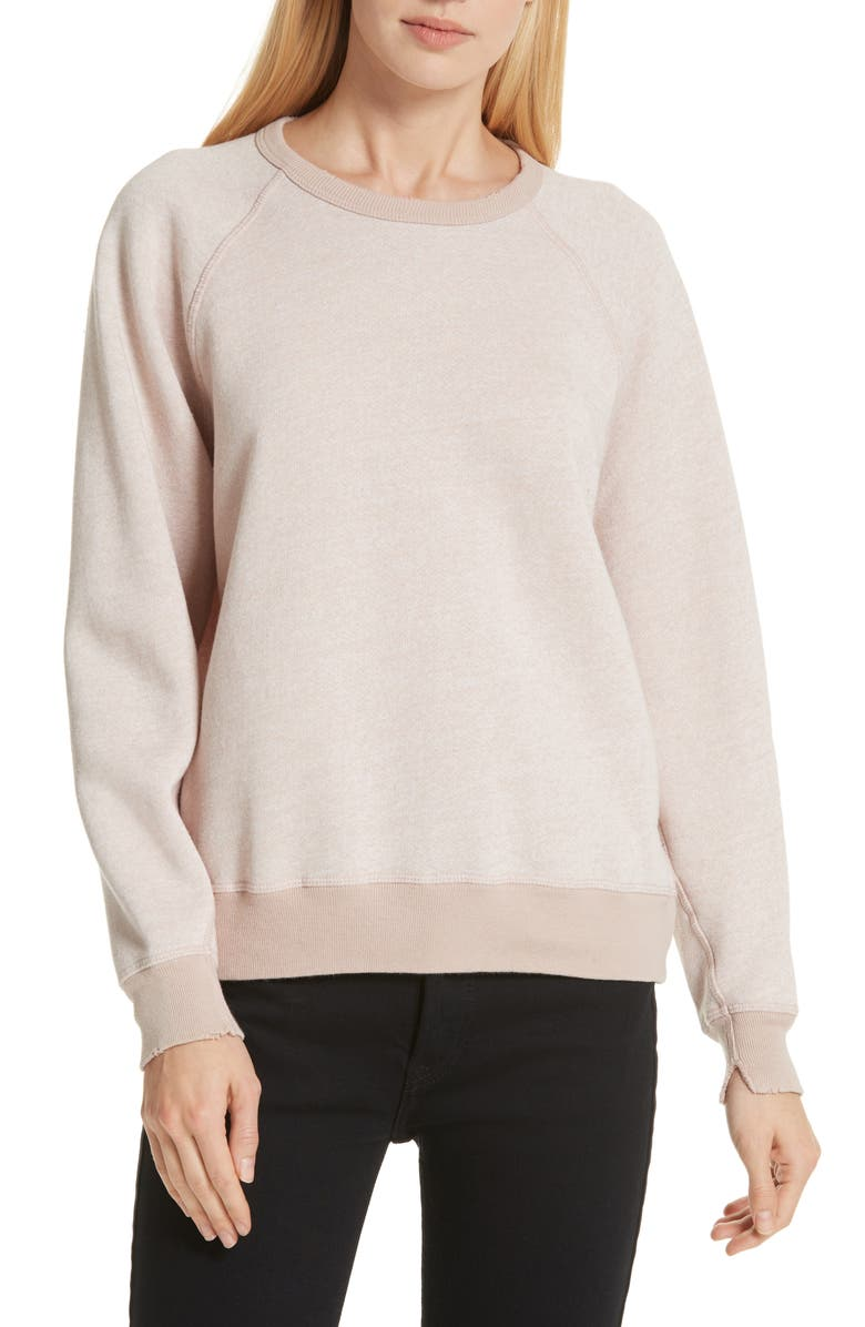 THE GREAT. The College Sweatshirt, Main, color, HEATHER BLUSH