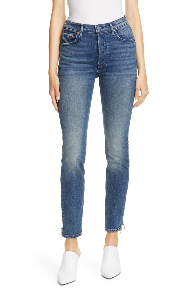 GRLFRND Karolina High Waist Skinny Jeans, Main, color, 400