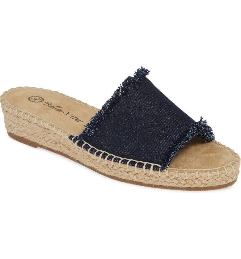 BELLA VITA Cher II Slide Sandal, Main, color, DARK DENIM FABRIC