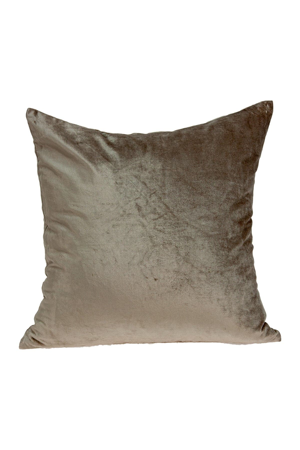 """Image of Parkland Collection Druzy Transitional Solid Pillow - 22"""" x 22"""" - Taupe"""