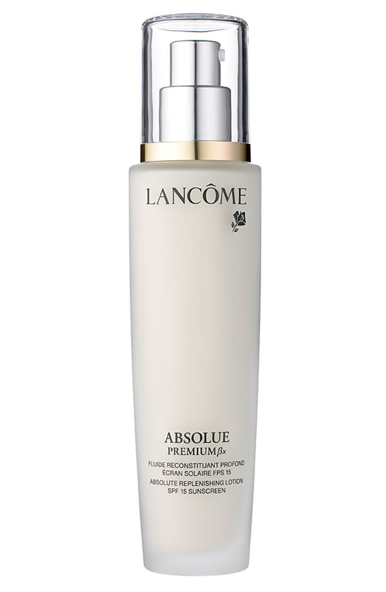 LANCÔME Absolue Premium Bx Replenishing and Rejuvenating Lotion SPF 15 Sunscreen, Main, color, NO COLOR
