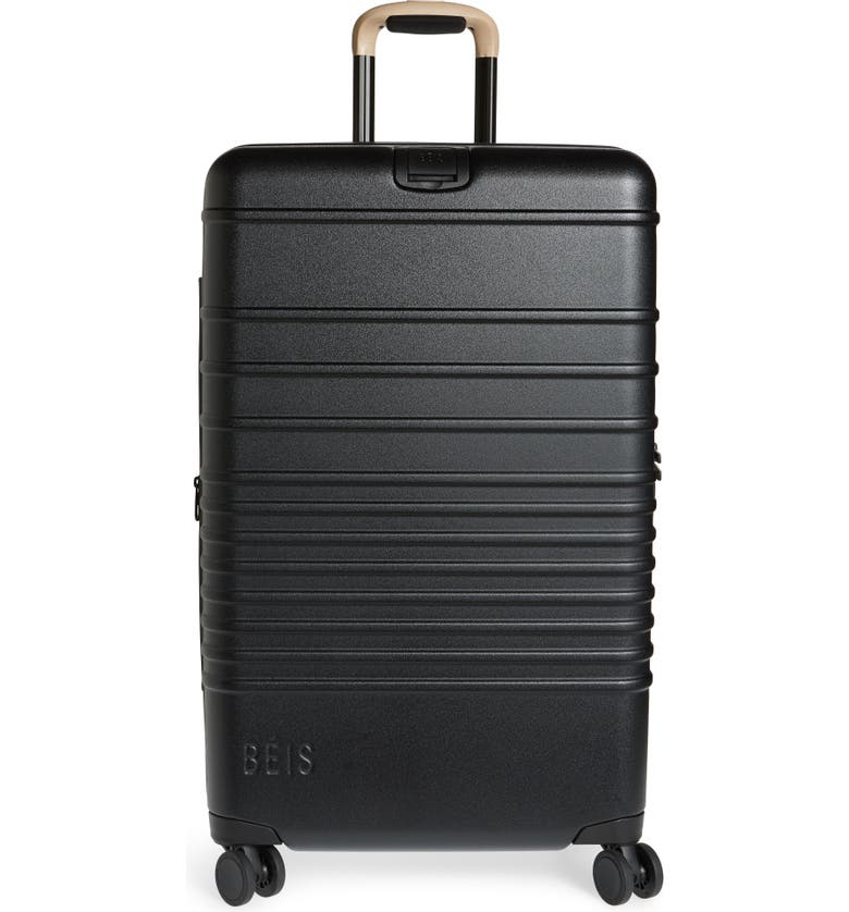 BÉIS 26-Inch Rolling Spinner Suitcase, Main, color, BLACK