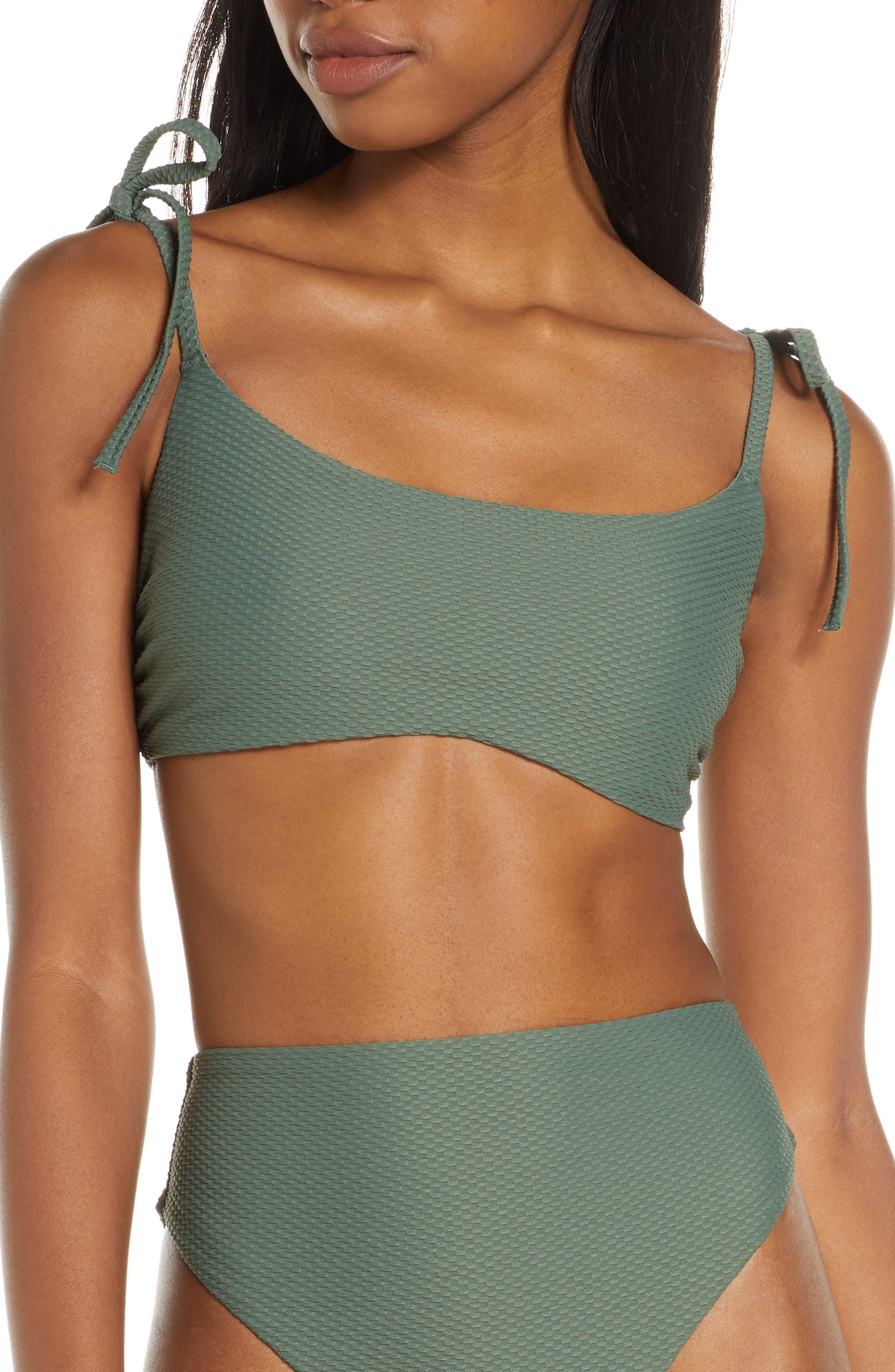 Chelsea28 Easy Retro Bikini Top, Green
