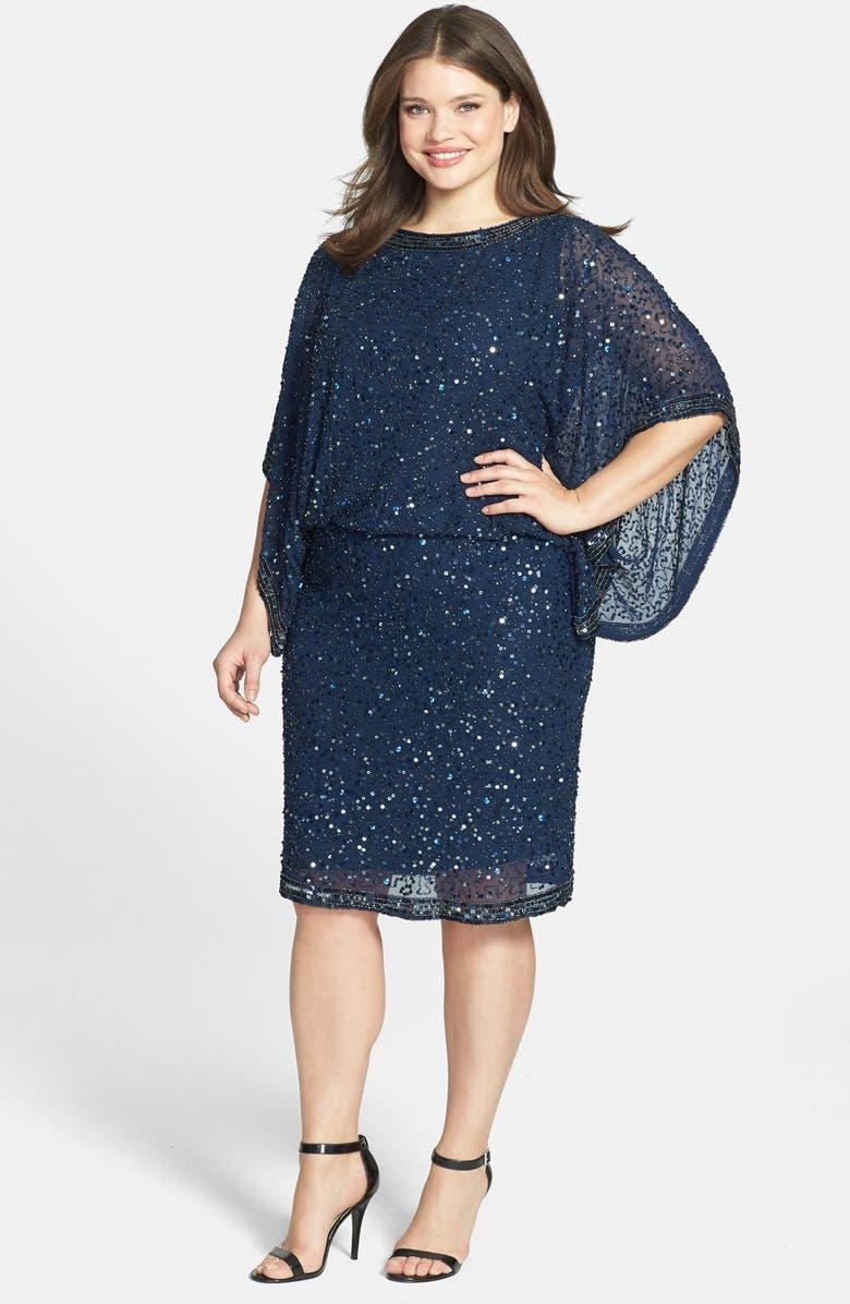 Embellished Kimono Sleeve Blouson Dress
