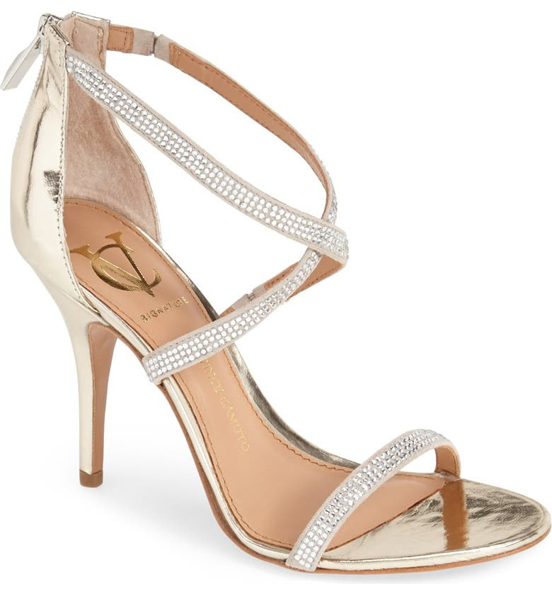 VC SIGNATURE 'Geva' Crystal Embellished Strappy Sandal, Main, color, 050