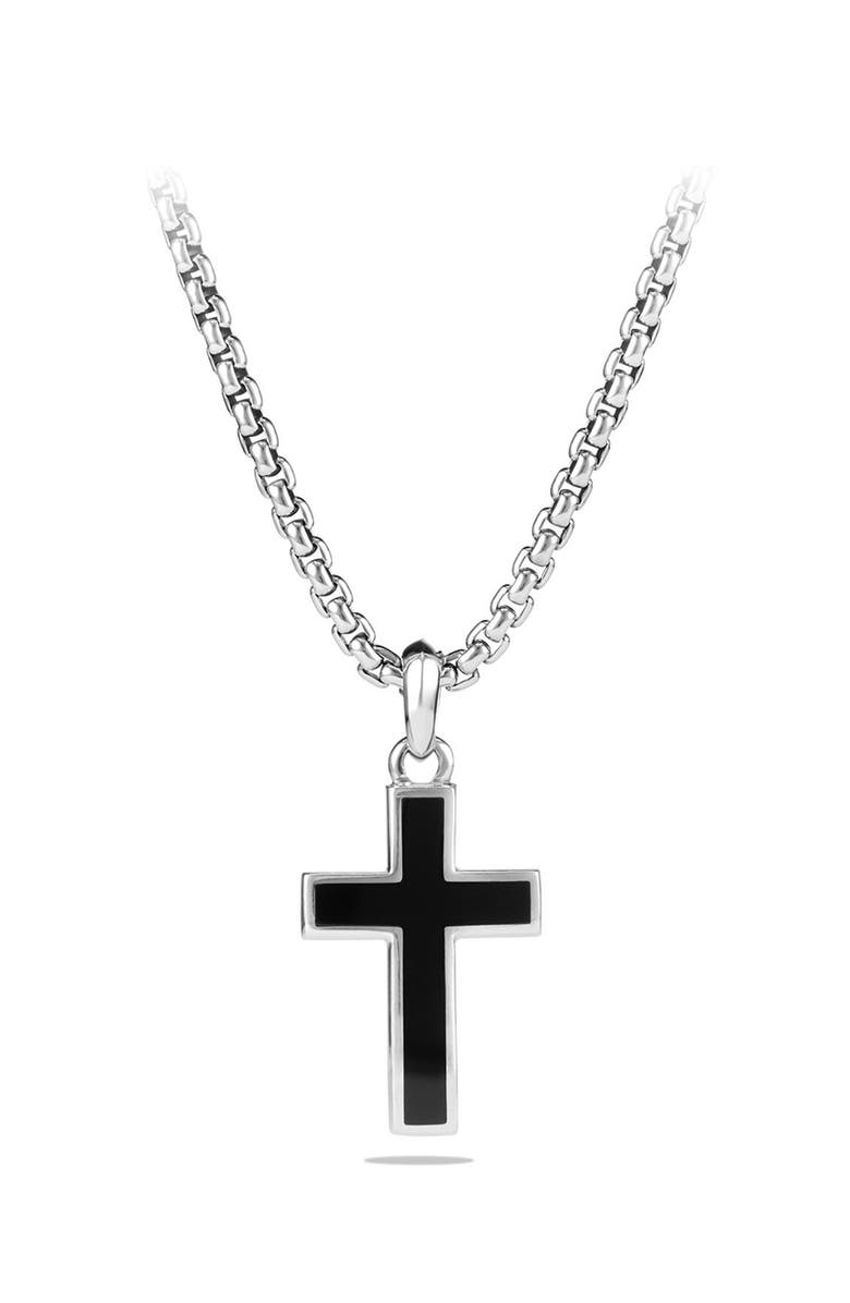 DAVID YURMAN Inlay Cross Pendant, Main, color, 001