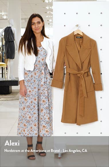 Wool Blend Wrap Coat, sales video thumbnail