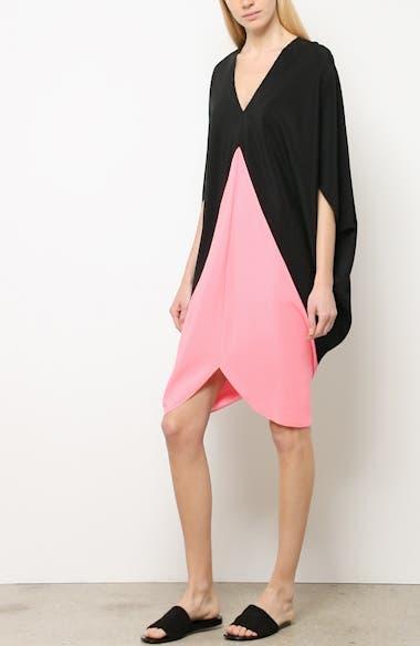 Koya Colorblock Stretch Silk Dress, video thumbnail