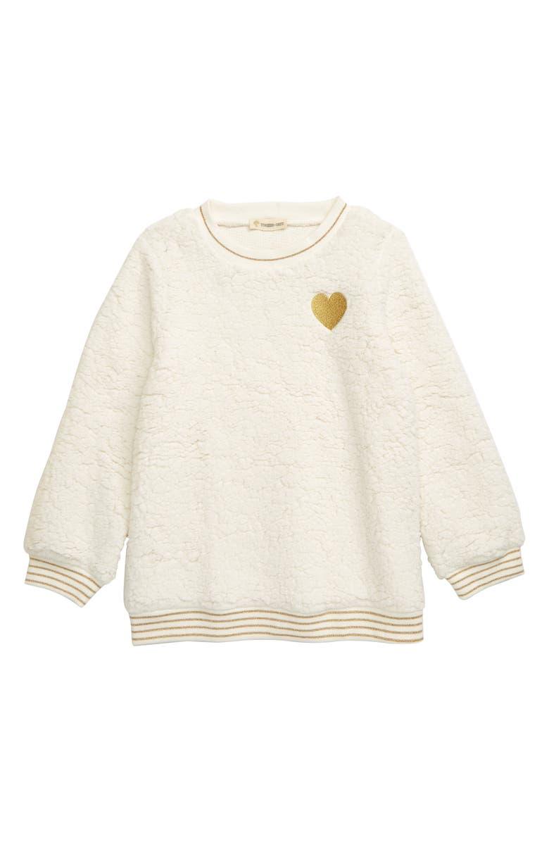 TUCKER + TATE Cozy Cuddle Sweatshirt, Main, color, IVORY EGRET