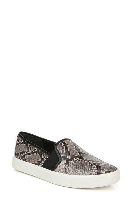 Image of Vince Blair Snake Print Slip-On Sneaker