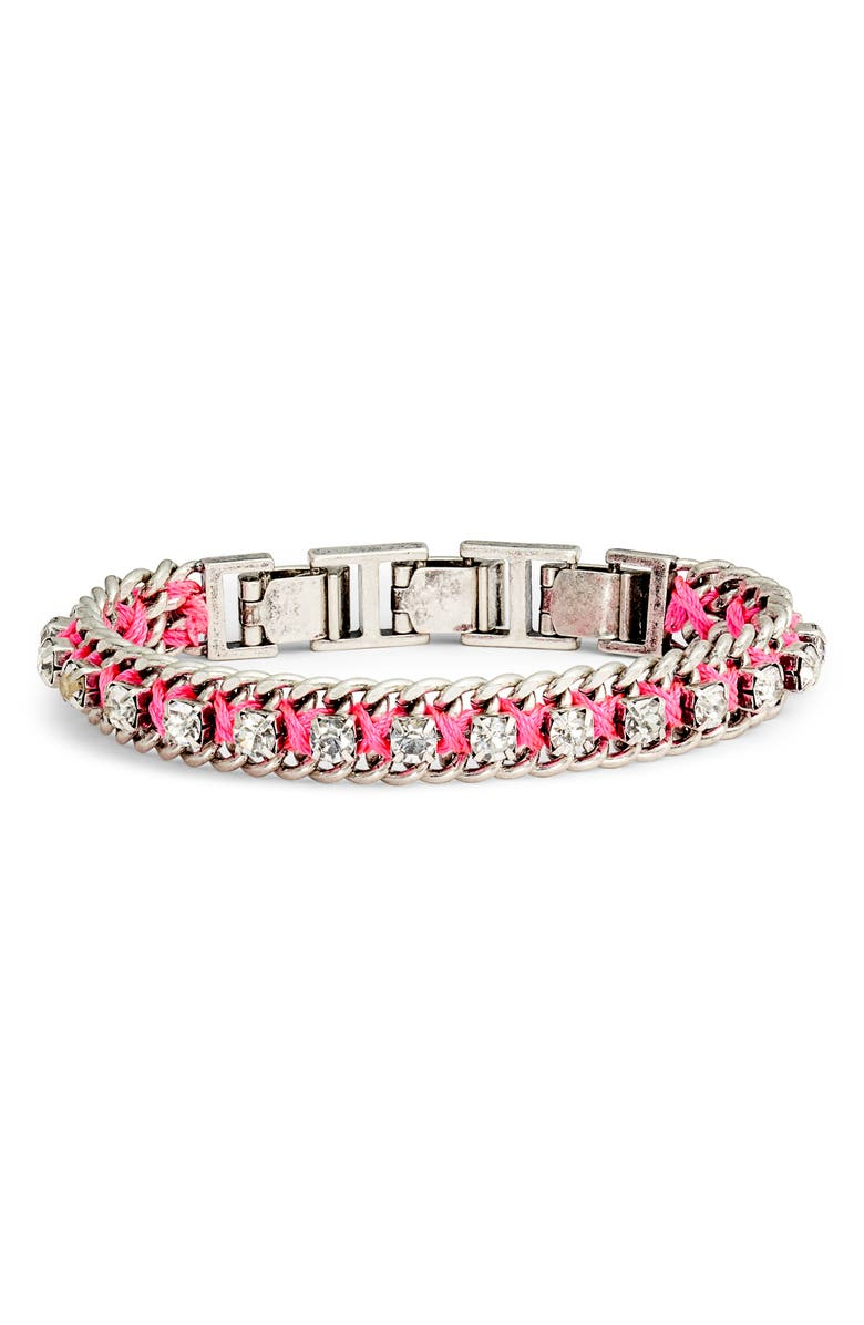 STELLA & DOT Neon Dream Bracelet, Main, color, SILVER/ MULTI