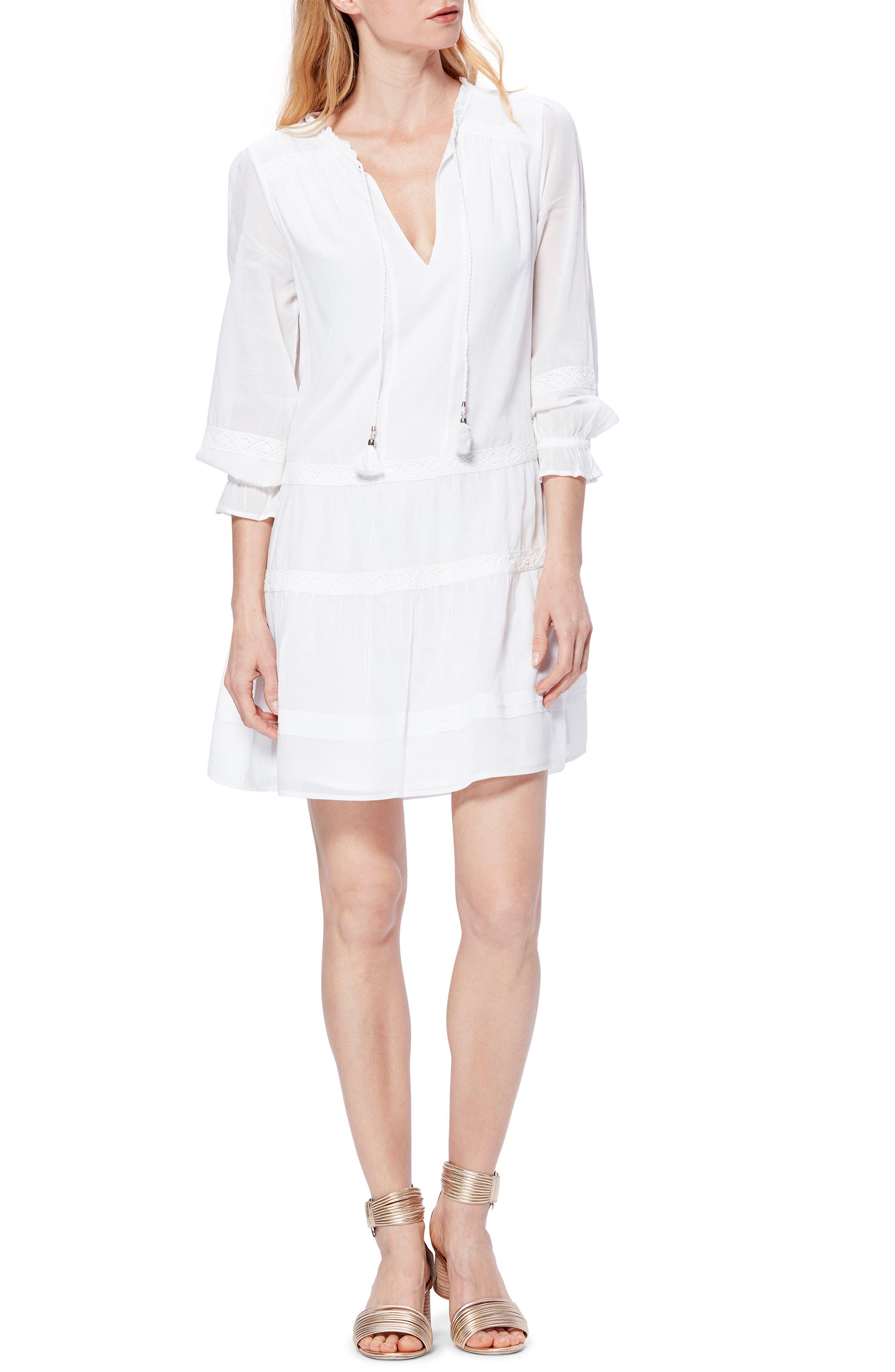 Paige Jaslene Long Sleeve Minidress, White