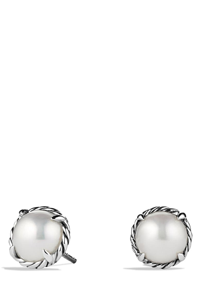 DAVID YURMAN Châtelaine Earrings, Main, color, PEARL
