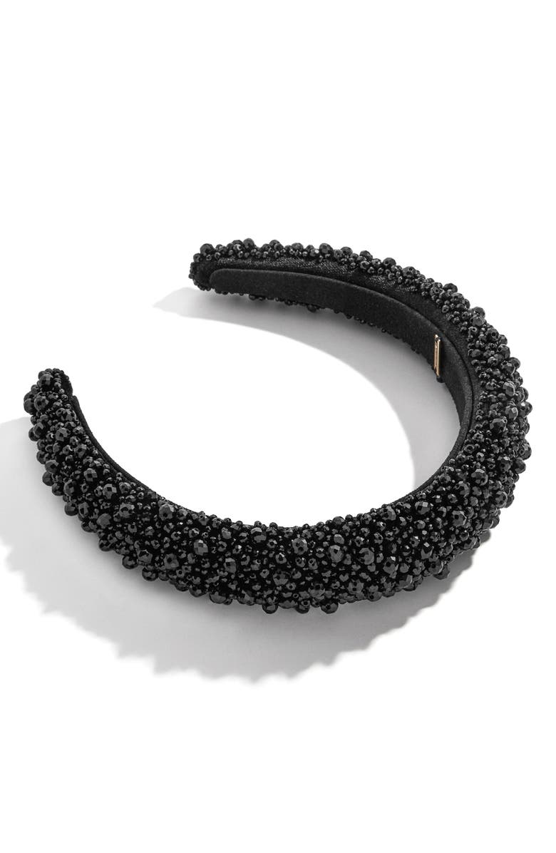 BAUBLEBAR Becca Beaded Headband, Main, color, BLACK