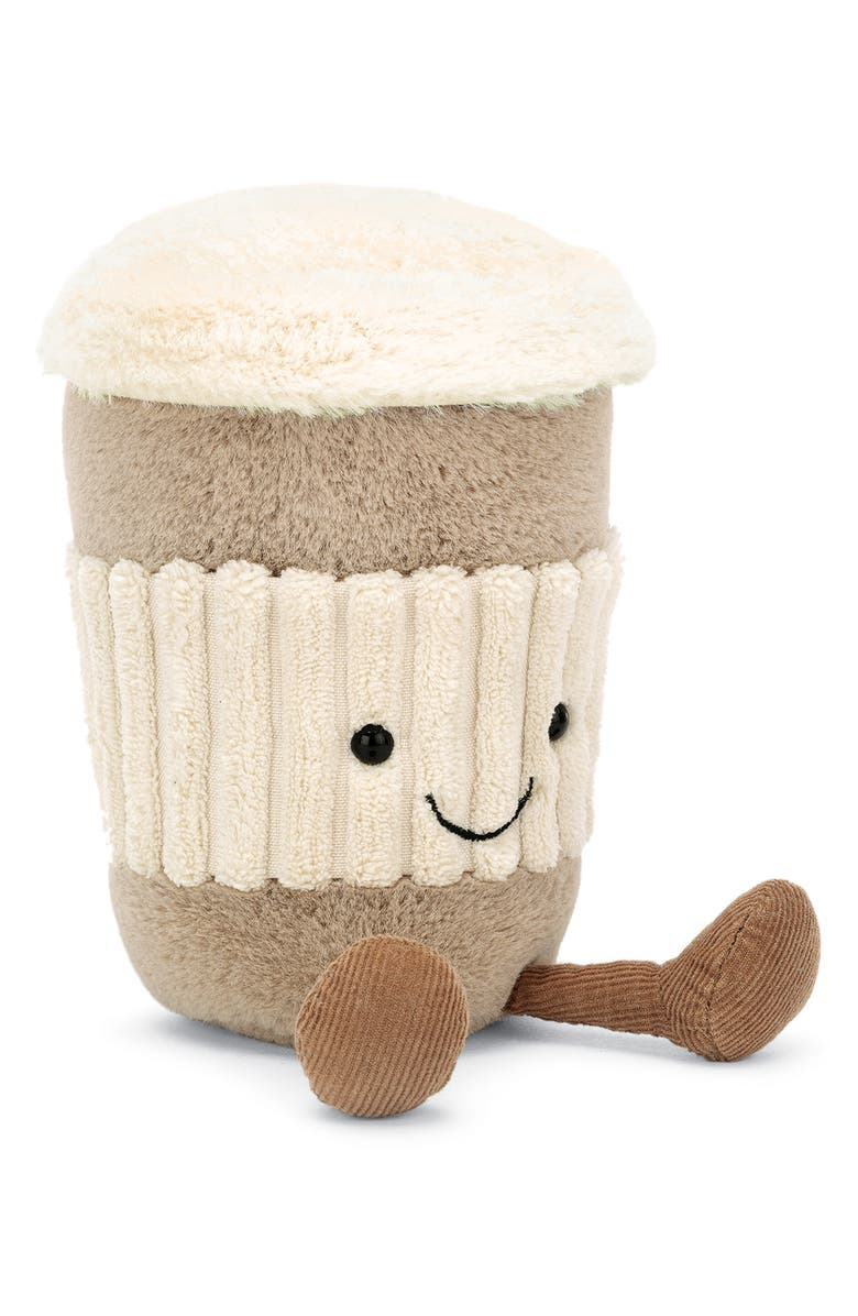 JELLYCAT Amusable Coffee to Go Plush Toy, Main, color, BEIGE